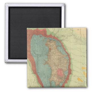 Mapa geológico del Black Hills de Dakota Imán Cuadrado