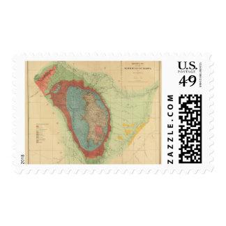 Mapa geológico del Black Hills de Dakota Sello Postal