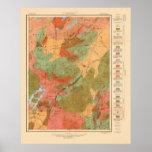 Mapa geológico del cuadrilátero del Lake Placid -  Impresiones