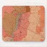 Mapa geológico del distrito de Washoe Alfombrillas De Raton
