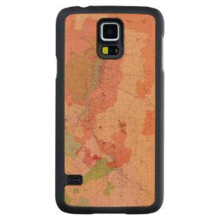 Mapa geológico del distrito de Washoe Funda De Galaxy S5 Slim Arce