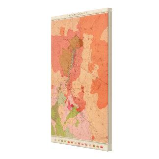 Mapa geológico del distrito de Washoe Impresiones De Lienzo
