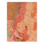 Mapa geológico del distrito de Washoe Tarjetas Postales