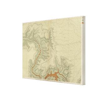 Mapa geológico del meridional lona envuelta para galerías