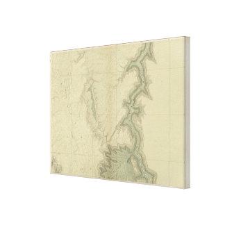 Mapa geológico del meridional impresiones de lienzo