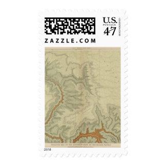 Mapa geológico del meridional timbre postal