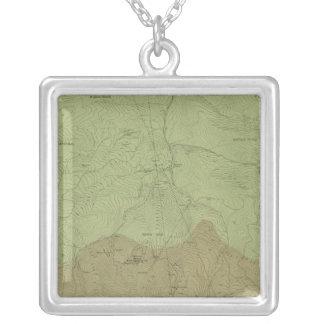 Mapa geológico del nuevo distrito de Idria Colgante Cuadrado