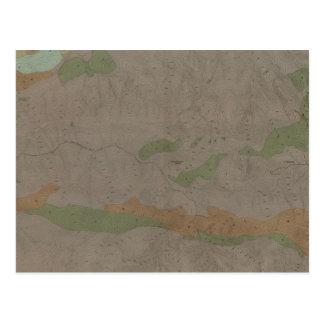 Mapa geológico del nuevo distrito de mina de postal