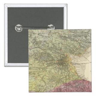 Mapa geológico Dublín Pin