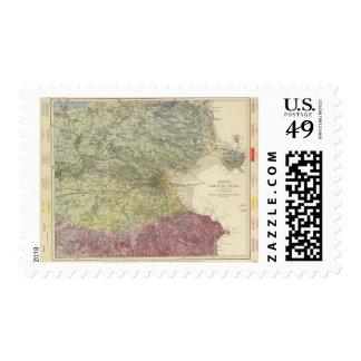 Mapa geológico Dublín Timbre Postal