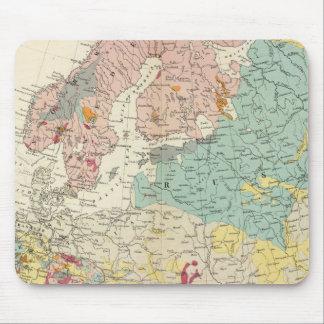 Mapa geológico Europa Alfombrillas De Ratón