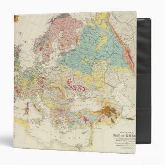"Mapa geológico Europa Carpeta 1 1/2"""