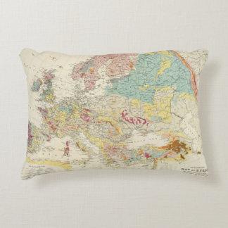 Mapa geológico Europa Cojín