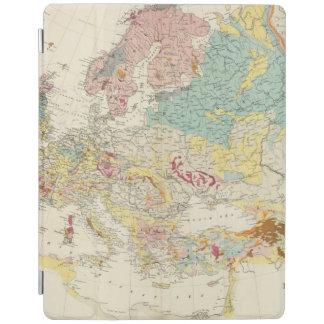 Mapa geológico Europa Cubierta De iPad