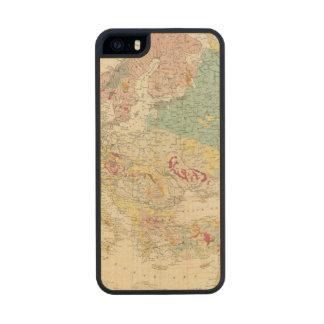 Mapa geológico Europa Funda De Arce Carved® Para iPhone 5