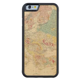 Mapa geológico Europa Funda De iPhone 6 Bumper Arce