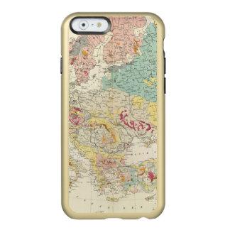 Mapa geológico Europa Funda Para iPhone 6 Plus Incipio Feather Shine