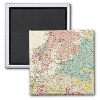Mapa geológico Europa Imán Cuadrado