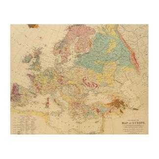 Mapa geológico Europa Impresiones En Madera