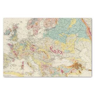 Mapa geológico Europa Papel De Seda Pequeño