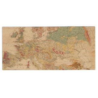Mapa geológico Europa Pen Drive De Madera USB 2.0