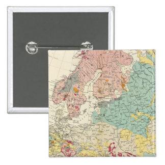 Mapa geológico Europa Pin Cuadrado