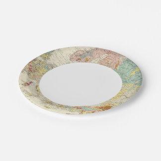 Mapa geológico Europa Plato De Papel De 7 Pulgadas