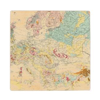Mapa geológico Europa Posavasos De Madera