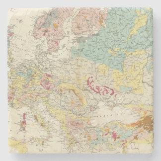 Mapa geológico Europa Posavasos De Piedra