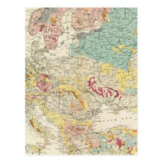 Mapa geológico Europa Postal