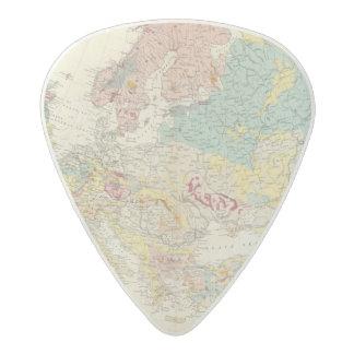 Mapa geológico Europa Púa De Guitarra Acetal