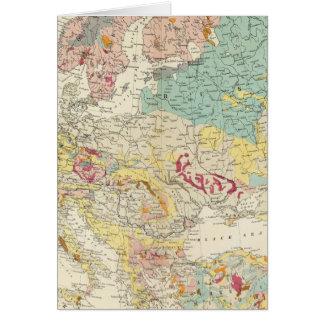 Mapa geológico Europa Tarjeta De Felicitación