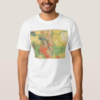Mapa geológico general de Colorado Camisas