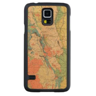Mapa geológico general de Colorado Funda De Galaxy S5 Slim Arce
