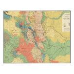 Mapa geológico general de Colorado Impresión En Madera