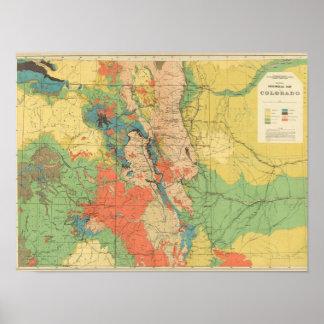Mapa geológico general de Colorado Posters