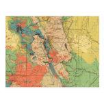 Mapa geológico general de Colorado Tarjeta Postal