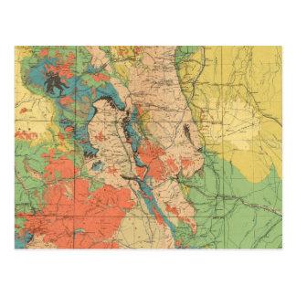 Mapa geológico general de Colorado Postal