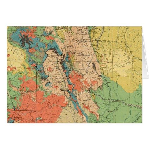Mapa geológico general de Colorado Tarjetas
