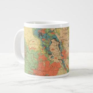 Mapa geológico general de Colorado Taza De Café Grande