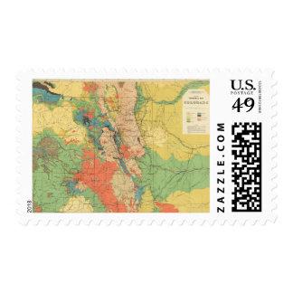 Mapa geológico general de Colorado Timbres Postales