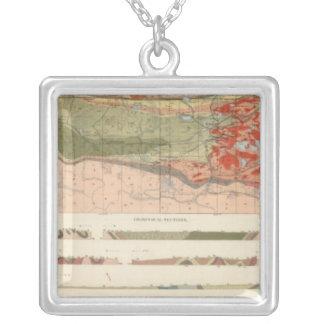Mapa geológico general del distrito de Marquette Collar Plateado