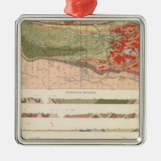Mapa geológico general del distrito de Marquette Ornamento Para Arbol De Navidad