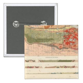 Mapa geológico general del distrito de Marquette Pin Cuadrado