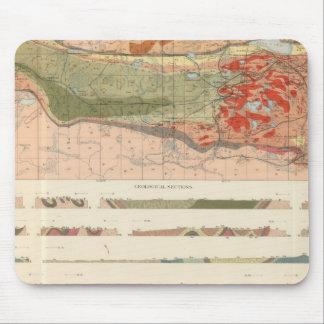 Mapa geológico general del distrito de Marquette Tapetes De Ratón