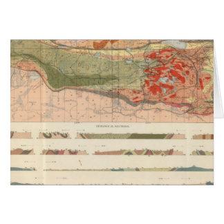 Mapa geológico general del distrito de Marquette Tarjeta De Felicitación