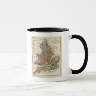 Mapa geológico Inglaterra, País de Gales Taza