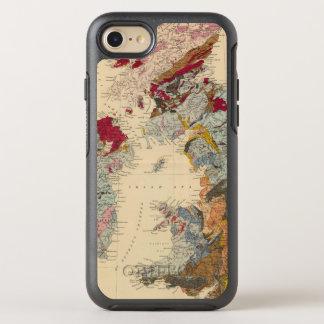Mapa geológico, islas británicas funda OtterBox symmetry para iPhone 7