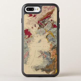 Mapa geológico, islas británicas funda OtterBox symmetry para iPhone 7 plus