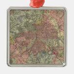 Mapa geológico Londres Ornamentos De Navidad